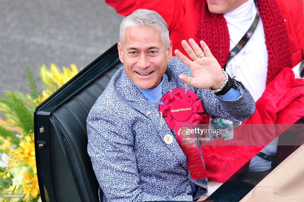 Grand Marshal Greg Louganis appears in the 128th Tournament Of Roses Parade on January 2, 2017 in Pasadena, California.