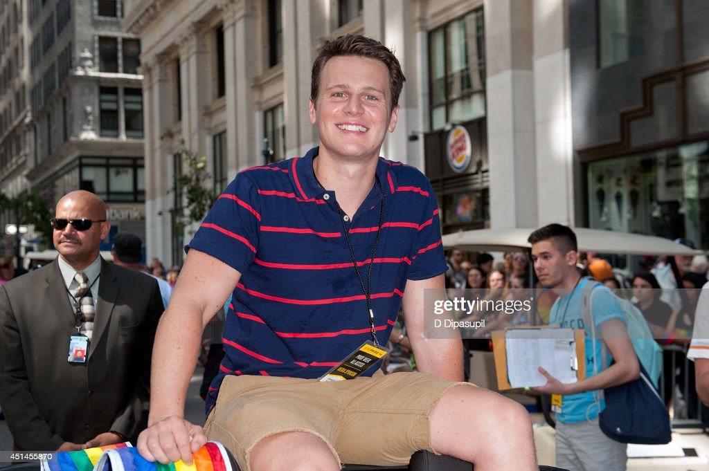 Grand Marshal Jonathan Groff attends the 2014 New York City Pride March on June 29 2014 in New York City