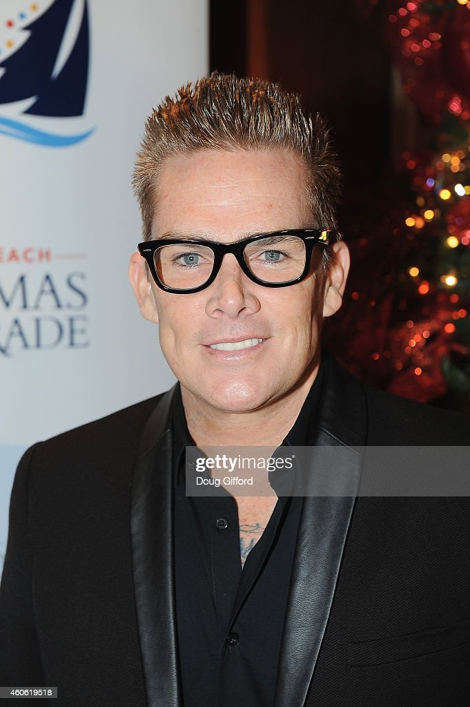 Grand Marshal, Mark McGrath poses before the start of the 106th Newport Beach Christmas Boat Parade at The Balboa Bay Club And Resort on December 17, 2014 in Newport Beach, California.