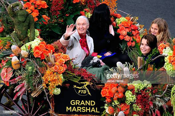 Grand Marshall Jane Goodall participates in the 124th annual Rose Parade themed 'Oh the Places You'll Go' on January 1 2013 in Pasadena California