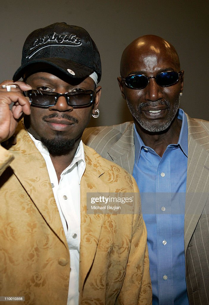 Grand Mixer DXT and Thelonious Monk Jr backstage at The Thelonious Monk Institute of Jazz and The Recording Academy Los Angeles chapter honoring...
