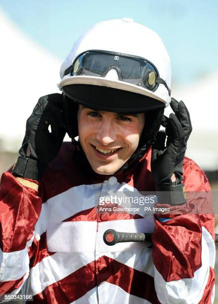 Grand National winning jockey Ryan Mania returns to racing after his injury as he prepares to ride Signalman during the Play Golf at Close House...