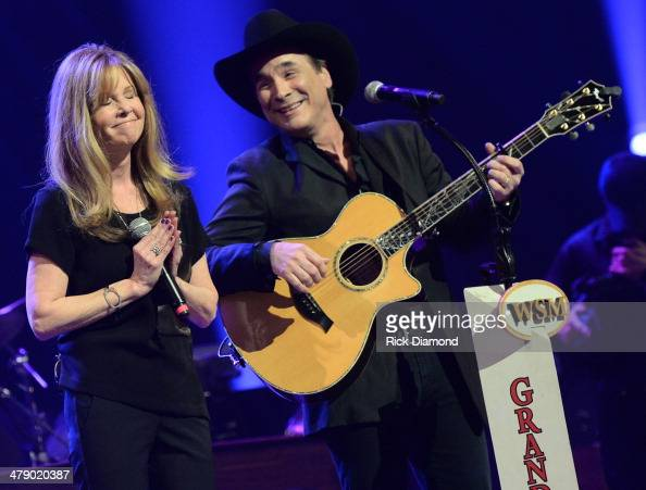 Grand Ole Opry Member and Friends Lisa Hartman Black and Clint Black perform during the 40th Anniversary of The Grand Ole Opry House on March 15 2014...