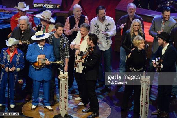 Grand Ole Opry members and friends Bill Anderson Clint Black Diamond Rio Green River Ordinance Miranda Lambert Old Crow Medicine Show Opry Square...