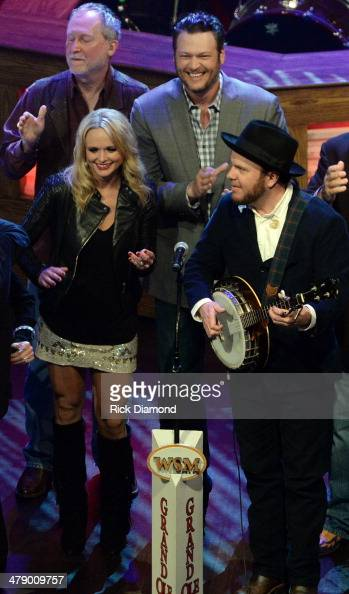Grand Ole Opry members and friends Miranda Lambert Diamond Rio Member of Old Crow Medicine Show and Blake Shelton perform during the 40th Anniversary...