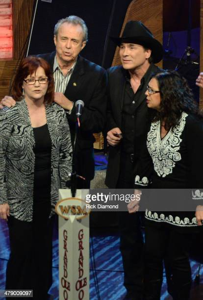 Grand Ole Opry members and friends The Whites and Clint Black perform during the 40th Anniversary of The Grand Ole Opry House on March 15 2014 in...