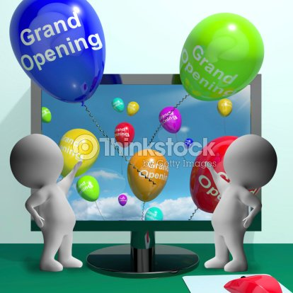 Grand opening balloons showing new online store launch stock photo grand opening balloons showing new online store launch stock photo m4hsunfo
