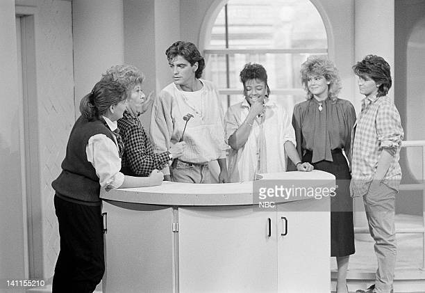 LIFE 'Grand Opening' Episode 3 Aired Pictured Mindy Cohn as Natalie Letisha Sage Green Charlotte Rae as Mrs Edna Ann Garrett George Clooney as George...