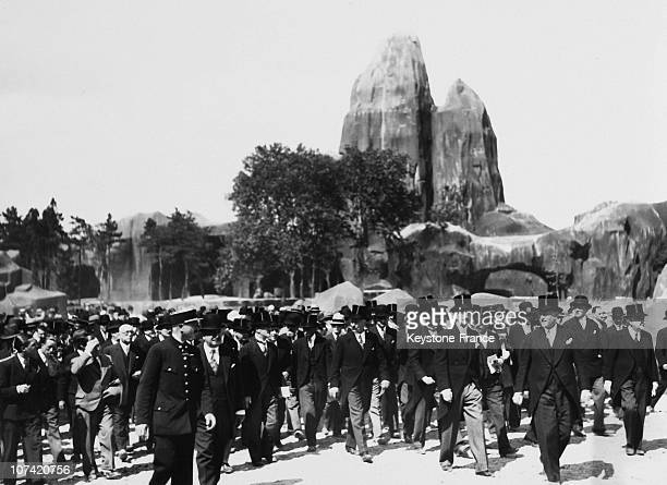Grand Opening Of The New Zoo De Vincennes By President Lebrun In Paris On 1934