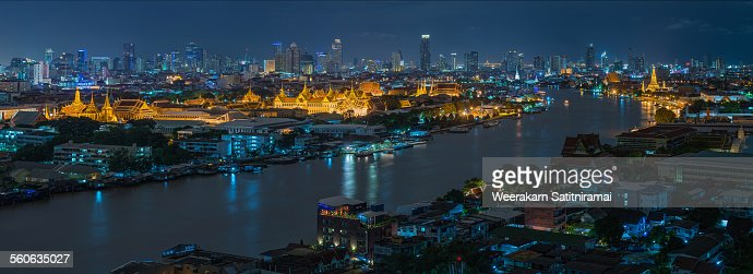 Grand Palace of Thailand and Chao Phraya river