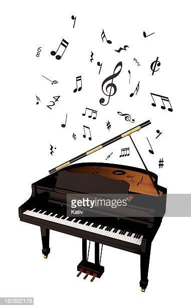 グランドピアノと音楽のメモ