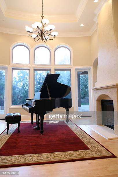 Grand Piano in Living Room