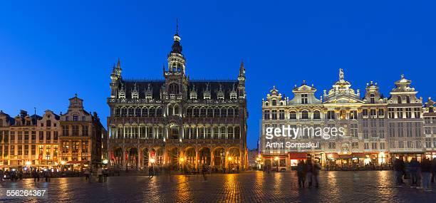Grand Place at dusk panorama,brussels,belgium