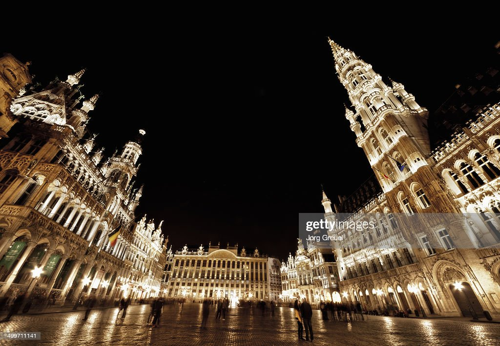 Grand Place at night