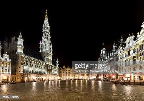 Grand Place illuminated at night, Brussels
