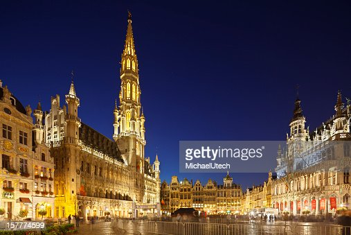 Grand Place In Brussels At Night