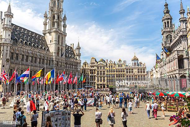 Grand Place in Brussels on the National Day