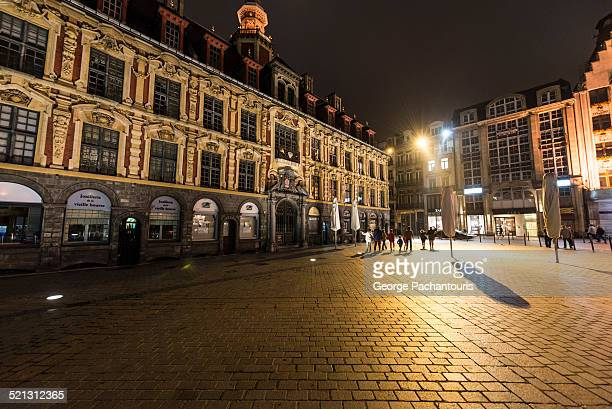 Grand Place in Lille at nifht