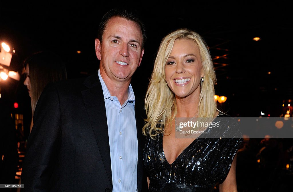Grand President and Chief Operating Officer Scott Sibella and television personality Kate Gosselin attend the grand opening of Brad Garrett's Comedy...