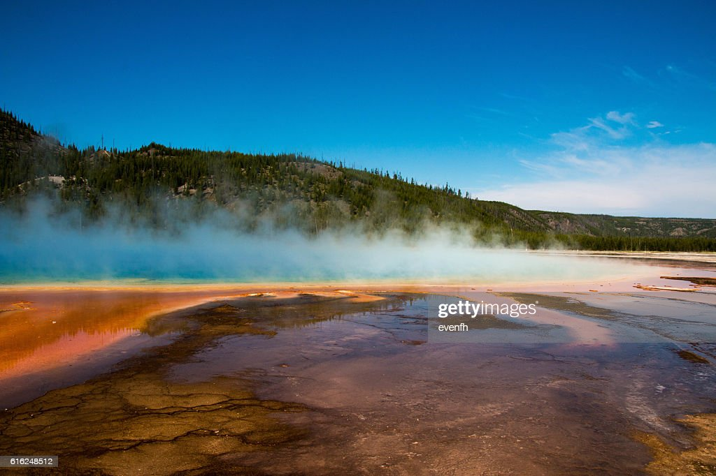 Grand Prismatic Spring, Yellowstone National Park : Stock Photo