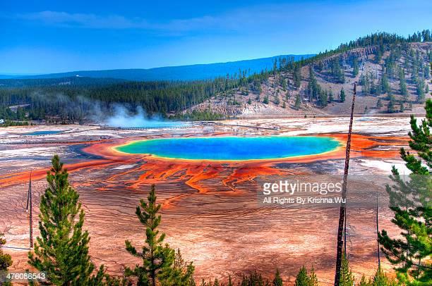 Grand Prismatic Spring, Yellowstone, Wyoming, Amer