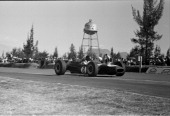 Grand Prix de Mexico Dan Gurney drives the Climax powered Barbham to a second place finish