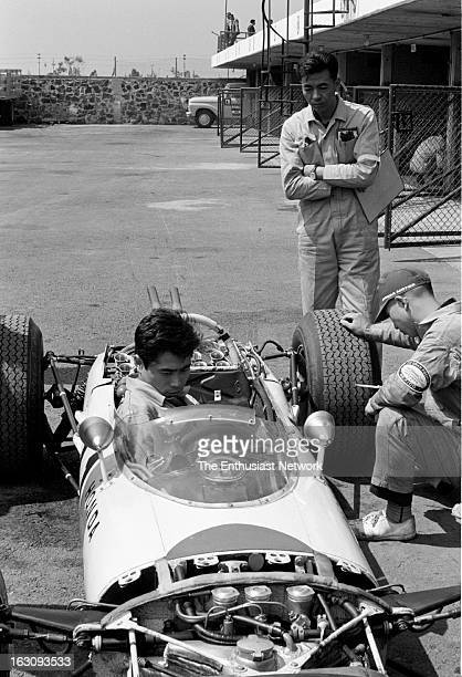 Grand Prix de Mexico Honda Mechanics work on Richie Ginther Honda RA272 Ginther will go on to win the race capturing Honda's first Formula One...