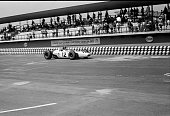 Grand Prix de Mexico Ronnie Bucknum of Honda drives the v12 powered Honda RA272 to a fifth place finish while teammate Richie Ginther goes on to win...