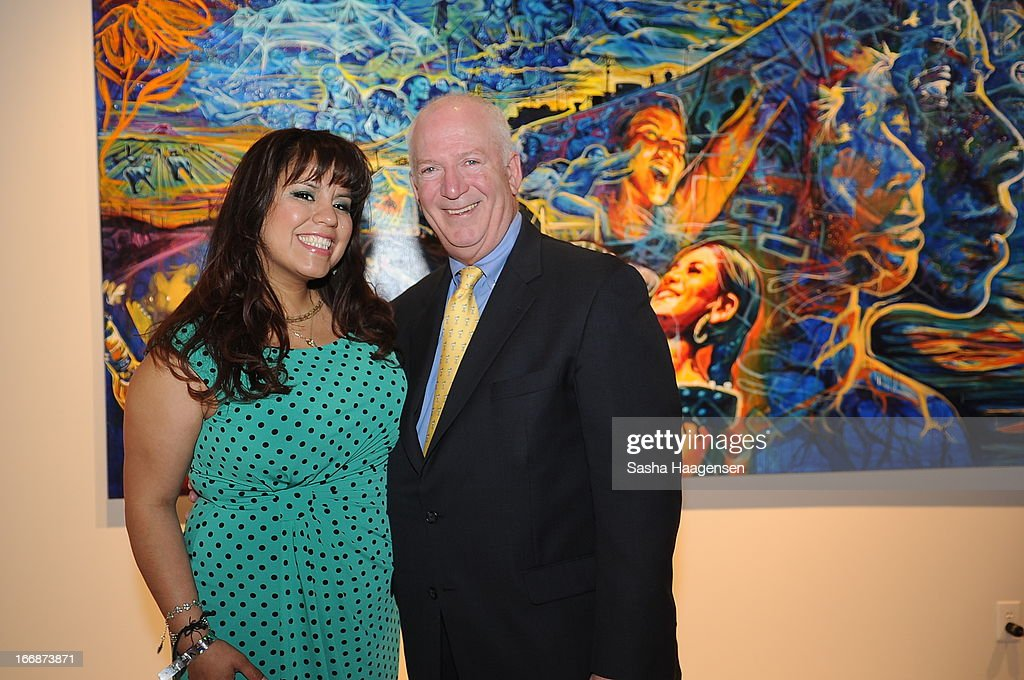 Grand Prize Winner, Adriana Garcia, with John Hartrey of Diageo during the Jose Cuervo Grand Prize Winner Annoucement party at Centro Cultural Aztlan on April 17, 2013 in San Antonio, Texas.