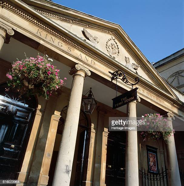 Grand Pump Room Bath Somerset c2000s View of the Stall Street entrance to the baths showing the inscription on the pediment The Grand Pump Room was...