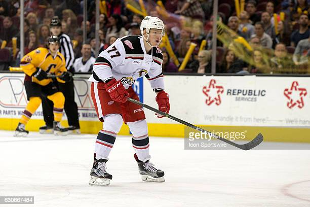 Grand Rapids Griffins RW Evgeny Svechnikov during the first period of the AHL hockey game between the Grand Rapids Griffins and Cleveland Monsters on...