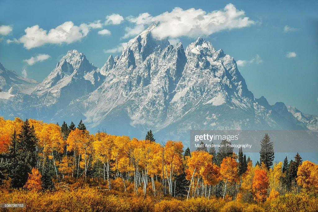 Grand Teton Mountains in Fall