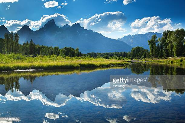 Grand Teton National Park Snake River and Mountain Range