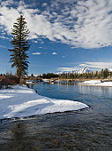 Grand Tetons and Snake River in Snow