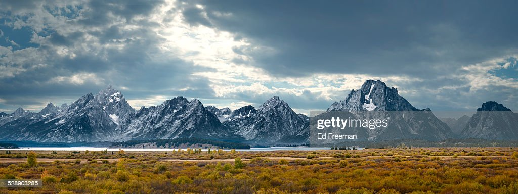 Grand Tetons in Dramatic Light : Photo