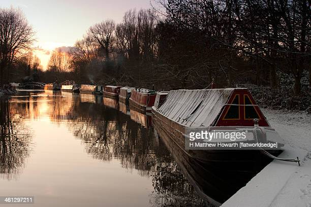 Grand Union Canal With Snow, Rickmansworth