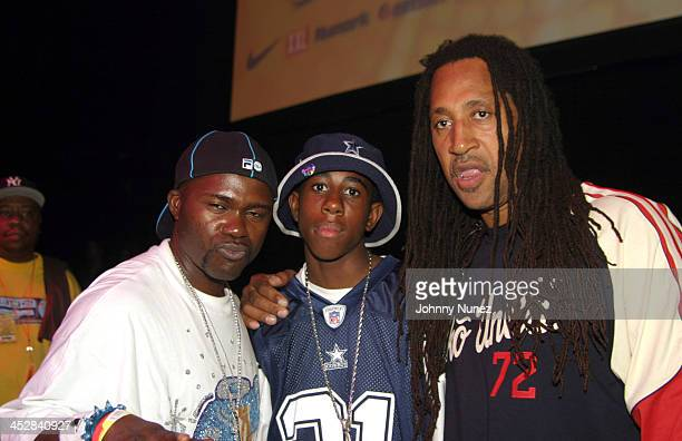 Grand Wizzard Theodore DJ Jus and Kool Herc during Spin Off '04 Grand Finals Hosted By DMC Featuring Performances By Talib Kweli and The Roots at...