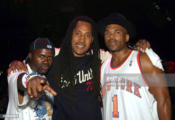 Grand Wizzard Theodore Kool Herc and DMC during Spin Off '04 Grand Finals Hosted By DMC Featuring Performances By Talib Kweli and The Roots at...