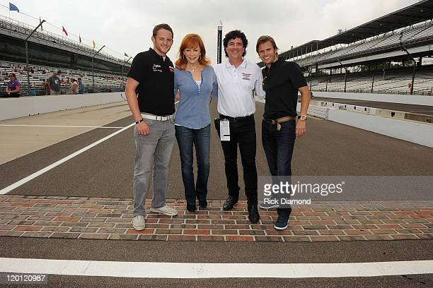 GrandAm Continental Tire Challenge driver Shelby Blackstock 2011 Indianapolis 500 winner Dan Wheldon CEO and President of Big Machine Records Scott...