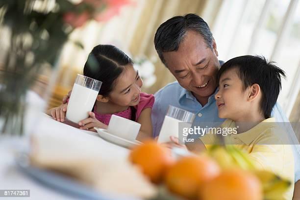 Grandchildren with Grandfather