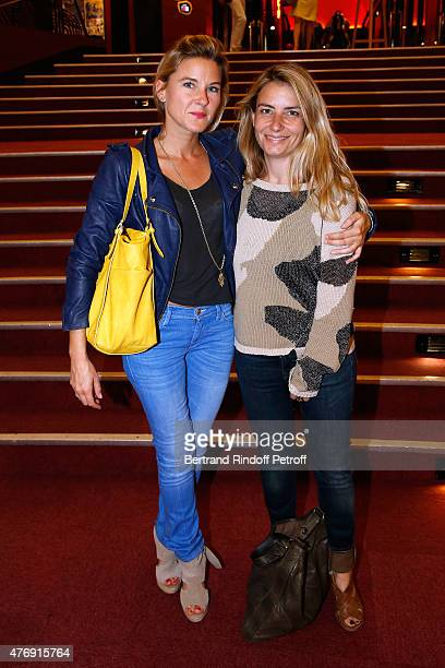 Granddaughter by marriage of Sean Connery Journalist Stephanie Renouvin and Galerist Maya Muller attend Humorist Berangere Krief Performs at...