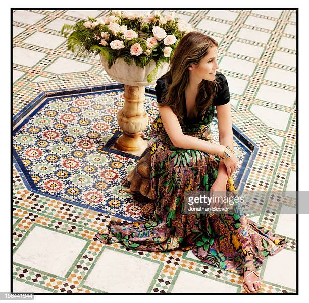 Granddaughter of and former creative director of Estee Lauder Aerin Lauder is photographed for Town Country Magazine on May 31 2012 in the courtyard...
