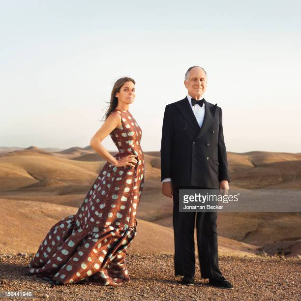 Granddaughter of and former creative director of Estee Lauder Aerin Lauder and her father Ronald Lauder are photographed for Town Country Magazine on...