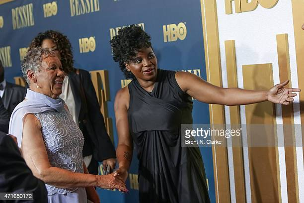 Granddaughter of Bessie Smith Beverly Ann Clarke and Director Dee Rees arrive for the New York screening of 'Bessie' held at The Museum of Modern Art...