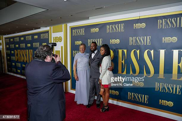 Granddaughter of Bessie Smith Beverly Ann Clarke arrives for the New York screening of 'Bessie' held at The Museum of Modern Art on April 29 2015 in...
