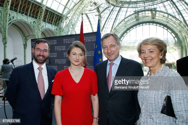GrandDuc Heritier Guillaume GrandeDuchesse Heritiere Stephanie De Luxembourg Ambassador of Luxembourg to France Paul Duhr and his wife Valerie attend...