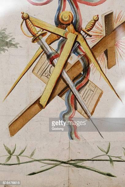 Grande Loge de France Masonic apron