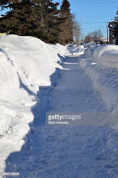 Grande Prairie Snowy Sidewalk