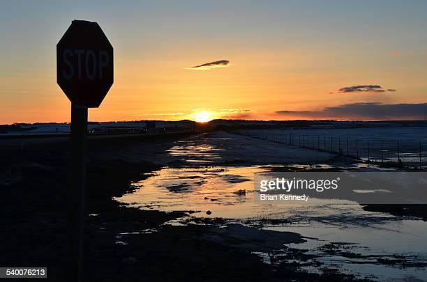 Grande Prairie Stop Sunset