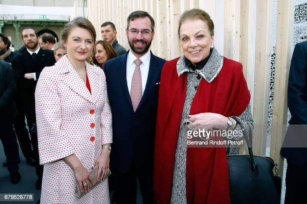 GrandeDuchesse Heritiere Stephanie De Luxembourg GrandDuc Heritier Guillaume De Luxembourg and Princess Barbara de Yougoslavie attend the...